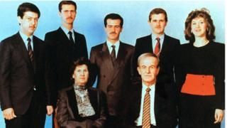 حافظ الأسد وأسرته
