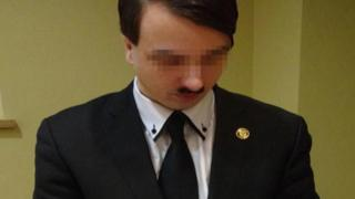 The 25-year-old man who calls himself Harald Hitler