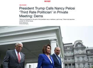 نانسی پلوسی و رهبران دموکراتها جلسه با دونالد ترامپ را در کاخسفید به نشانه اعتراض ترک کردند