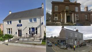 Former banks in Beauly, Stonehaven and Dalbeattie