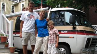 BBC correspondent Richard Lister travelled across North America with his family in a 1978 GMC Kingsley