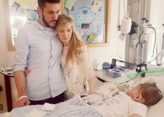 Chris Gard and Connie Yates with their son Charlie Gard