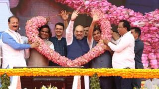 भारतीय जनता पार्टी, 38वां स्थापना दिवस, भाजपा, बीजेपी, अमित शाह, भाजपा की रैली