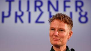 Charlotte Prodger at the Turner Prize ceremony