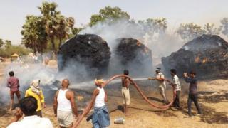 Bihar village fire