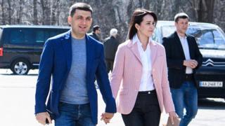 Володимир Гройсман із дружиною Оленою
