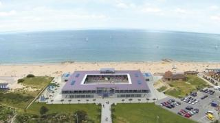 CGI of Sandbanks stadium design