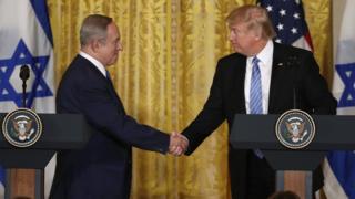 Трамп и Нетаньяху в Белом доме