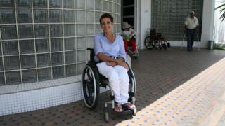 Amina Slaoui in front of the Noor Medical Centre in Casablanca, Morocco