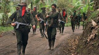 Guerrilleros del ELN en Arauca (foto de archivo).