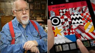 Sir Peter Blake and (right) Dazzle It