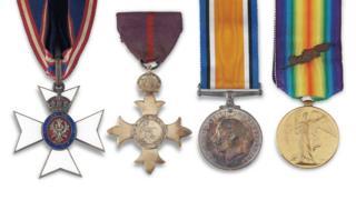 Sir Ernest Shackleton's medals
