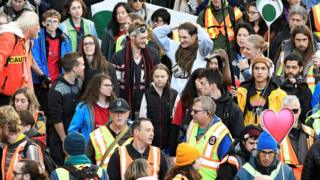 science Greta Thunberg joins a climate strike march in Vancouver