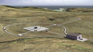 Artist's impression of spaceport