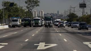 Grevistas em São Paulo