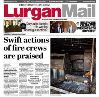 Lurgan Mail front page, 18 May