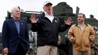 Trump a iyakar boda tsakanin Amurka da Mexico