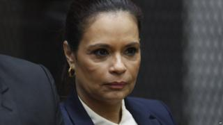 Guatemala's former Vice-President Roxana Baldetti attends a court hearing on corruption charges