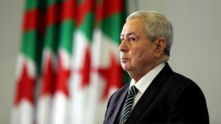 رئيس مجلس الأمة عبد القادر بن صالح رئيسا مؤقتا للبلاد