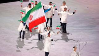 کاروان ایران در مراسم افتتاحیه المپیک زمستانی پیونگ چانگ