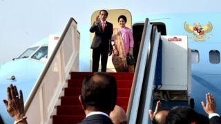 Presiden Joko Widodo bertolak menuju India dalam seri kunjungan ke lima negara Asia Selatan