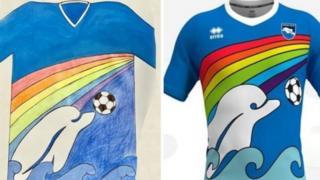 Nuovo design della maglia Pescara - dal tweet ufficiale del club