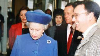 Dr Peter Fisher and the Queen