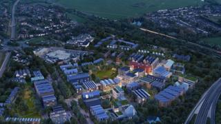 A bird's eye view of how Oxford North will look