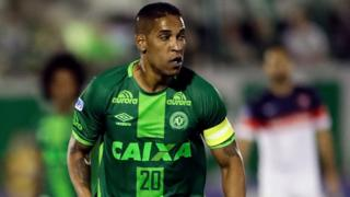 Cleber Santana, of Brazil's Chapecoense, runs on the pitch during a Copa Sudamericana semifinal soccer match against Argentina's San Lorenzo on 23 November