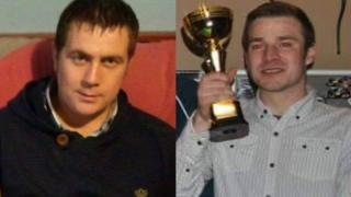 Michael Shepherd (left and Karl Buchan (right) - the men who died in the crash