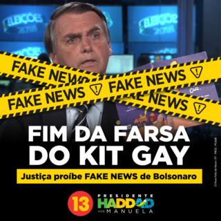 Meme contra fake news do kit gay