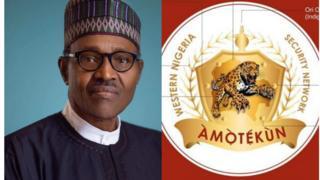 Aarẹ Buhari ati ami idanimọ Amotekun