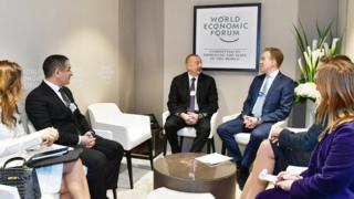 İlham Əliyev Davosda