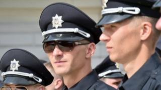 офицеры украинской полиции