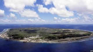 NAURU: The barren and bankrupt island state of the Republic of Nauru awaits the arrival of 521 mainly Afghan refugees, 11 September 2001 which have been refused entry into Australia.