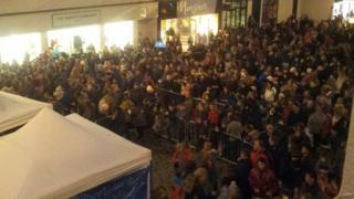 Crowds at Truro Winter Wonderland