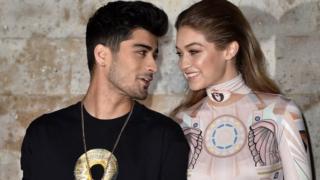 المغني زين مالك وصديقته عارضة الأزياء جيجي حديد