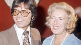 Sir Cliff Richard and Dame Vera Lynn in 1975