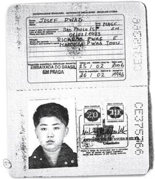 Ảnh cuốn hộ chiếu Brazil mang ảnh ông Kim Jong-un được cấp ngày 26/2/1996