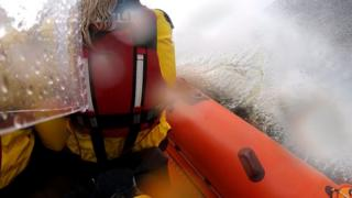 RNLI Loch Ness launch into 'unusually challenging conditions'