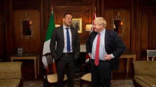 Leo Varadkar and Boris Johnson