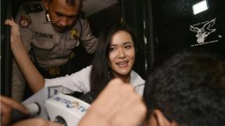 Murder suspect Jessica Kumala Wongso arrives at the Central Jakarta court on 27 October 2016.