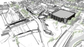 Artists' impression of Lincoln's proposed transport hub