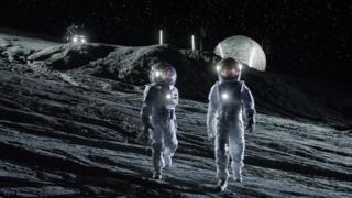 Ilustração mostra astronautas na Lua