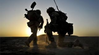 Northern Ireland British soldiers in Afghanistan in 2013
