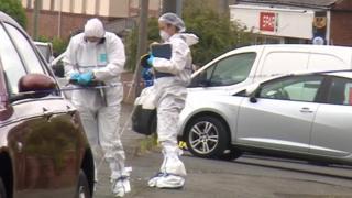 Forensic police investigate