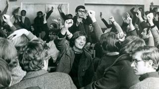 Protesters at the University of Liverpool