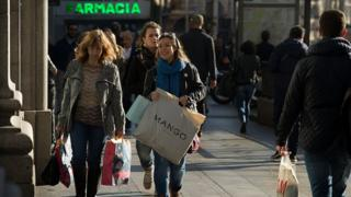 Shoppers in Spain