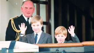Принц Уильям и принц Гарри в 1991 году