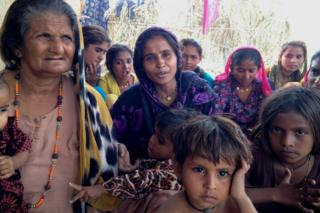 Pakistani Hindus at a camp in Delhi